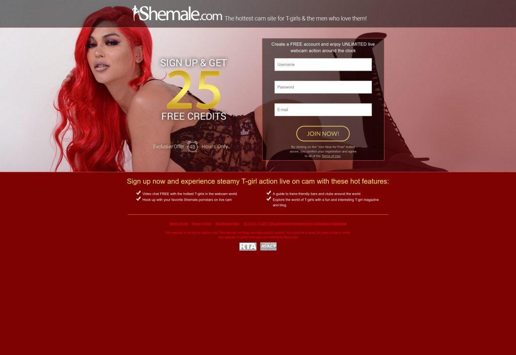 Shemale.com code promo