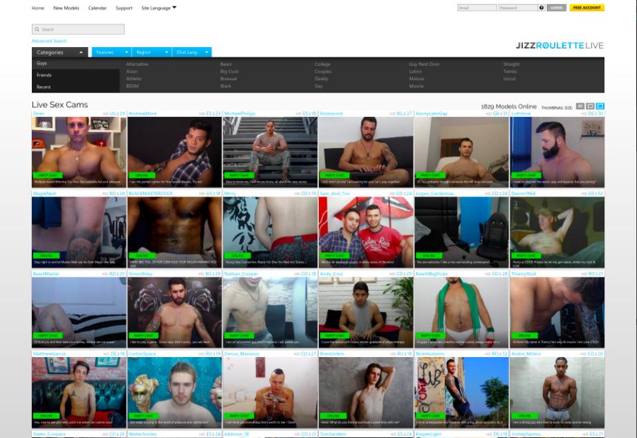 Jizzroulette page d'accueil site cam gay gratuit